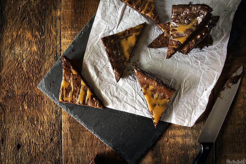 Salted Caramel Brownies \\ PasstheSushi.com
