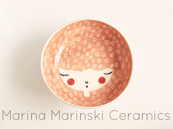 handmade things I'm loving right now (Ceramic serving bowl Marina Marinski Ceramics) | Emma Lamb