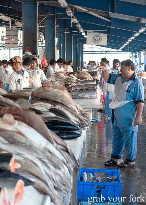 Seafood at Dubai Fish Market in Deira