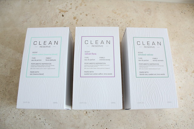 Clean Reserve Warm Cotton, Velvet Flora, and Smoked Vetiver review