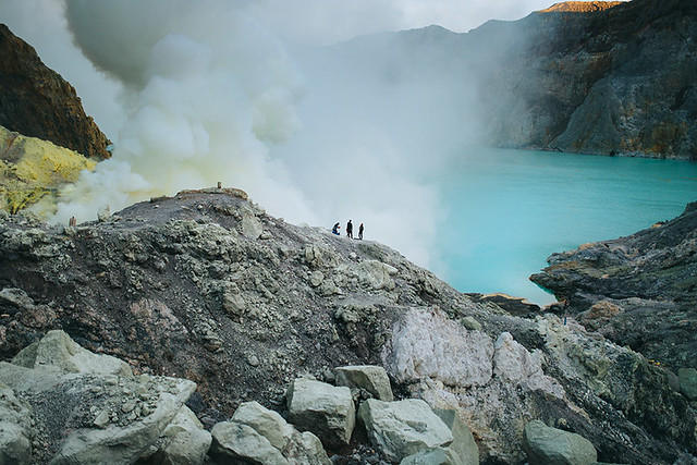 The power of colors. Ijen