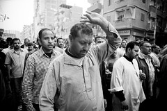 Ghazl Shebeen el-Kom workers marching on the local governor headquarters