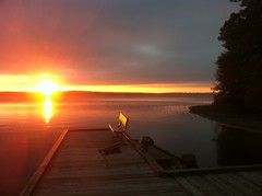 Sunset at Caney Lake