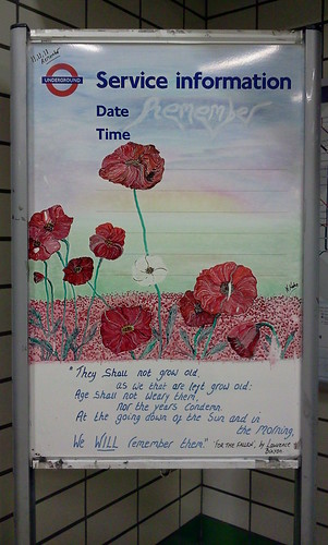 Caledonian Tube Artist Kim for Remembrance Day