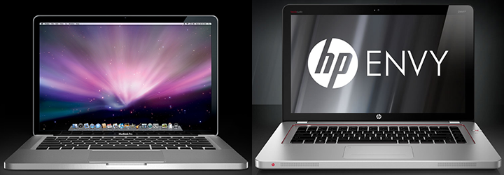 Apple MacBook Pro and HP Envy
