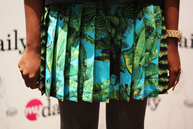 versace h&m palm print skirt