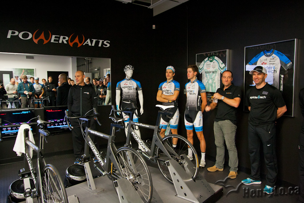 Steve Bauer introduces his Team Spidertech powered by C10 riders