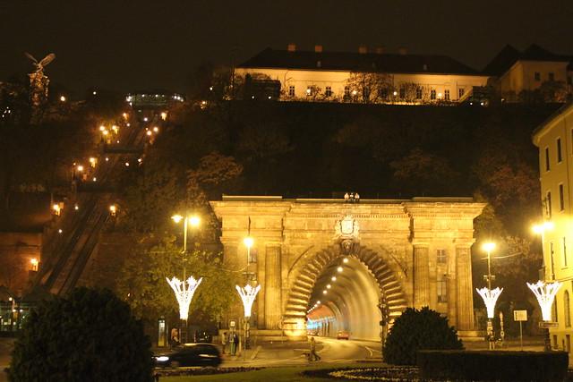 Túnel y funicular en Budapest