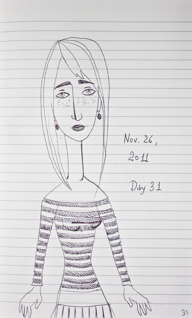 Day 31 | Nov. 26, 2011 | Striped Top