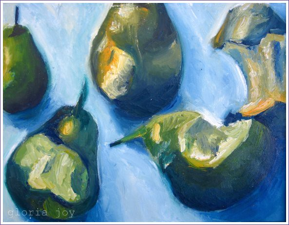 Pear Still Life Acrylic on Canvas