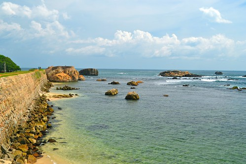 The coast off the Galle Fort