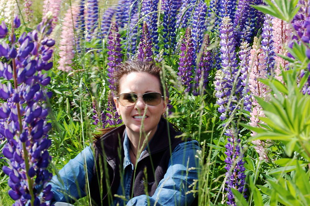 Leah in the Lupins