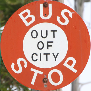 Bus Stop Barbados Out of City
