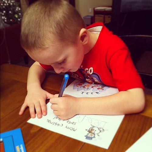 Writing to Santa and asking for none of the stuff santa told me he already got.