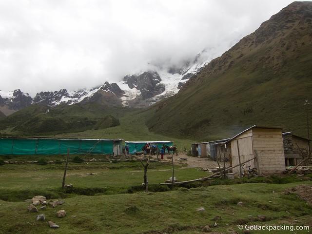 Camp #1 at Soraypampa
