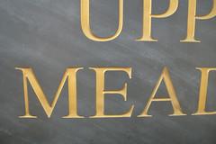 Slate engraved with gold leaf