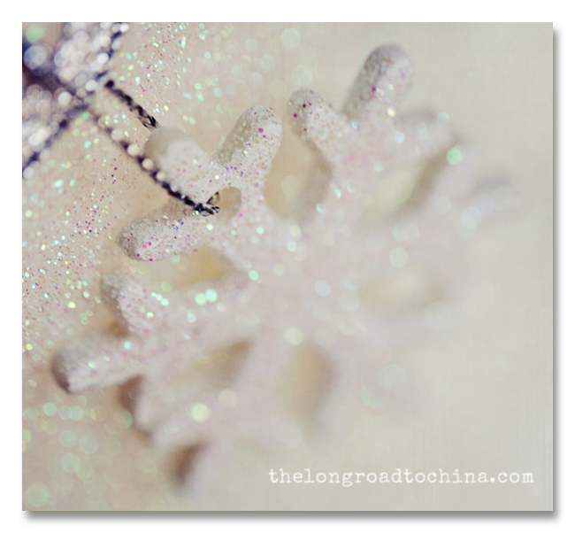 Square Sparkly Snowflake Raw Silk BLOG