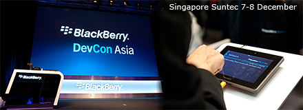 BlackBerry DevCon Asia in Singapore Suntec from 7-8 December, 2011.