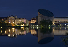 Planetarium Copenhagen - blue hour long exposure
