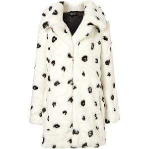 Dalmatian Oversized Faux Fur Coat