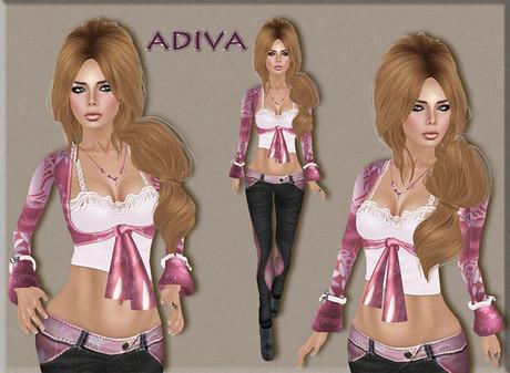aDiva couture Pamela Reloaded Paisley Oldrose / Black, 325 lindens by Cherokeeh Asteria