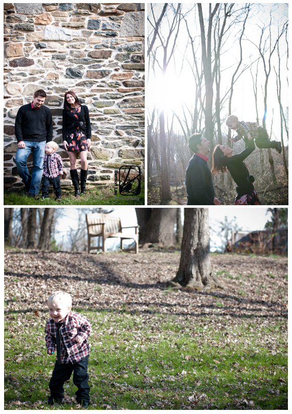 Some of my favorite family photos at Jerusalem Mills during our holiday family photography session in Kingsville, Maryland. Taken by Benson Lau Photography.