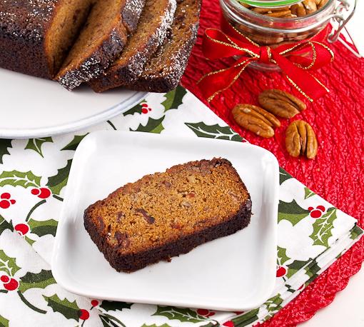 Cranberry Bourbon Christmas Cake