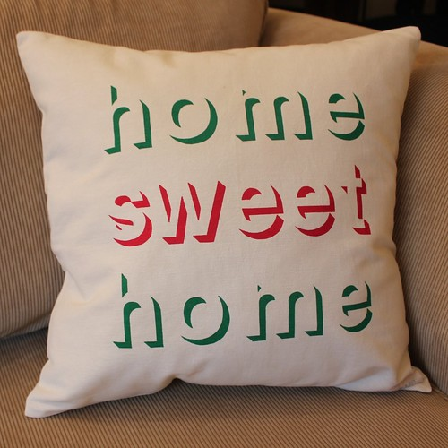 home sweet home cushion - screen printed