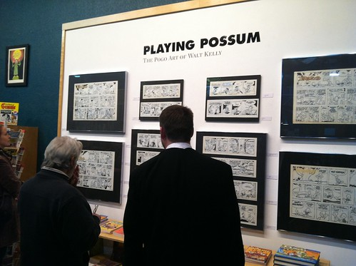 Playing Possum exhibit at the Fantagraphics Bookstore & Gallery