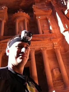 Sele con la GoPro en Jordania
