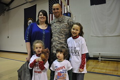 Bravo Company 1st Battalion 149th Infantry welcome home ceremony