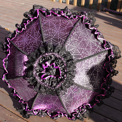 purple spiderweb parasol