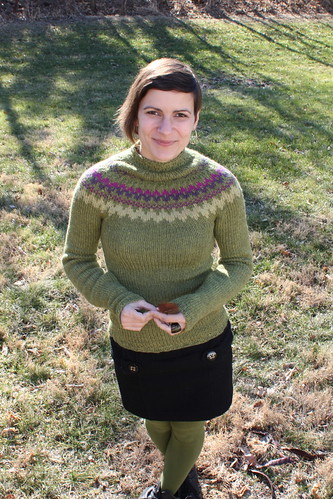 20111221. day #21: based on the Seamless Yoke Sweater by Elizabeth Zimmermann