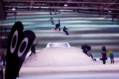 Inside the Qiao Bo Indoor Ski Resort.