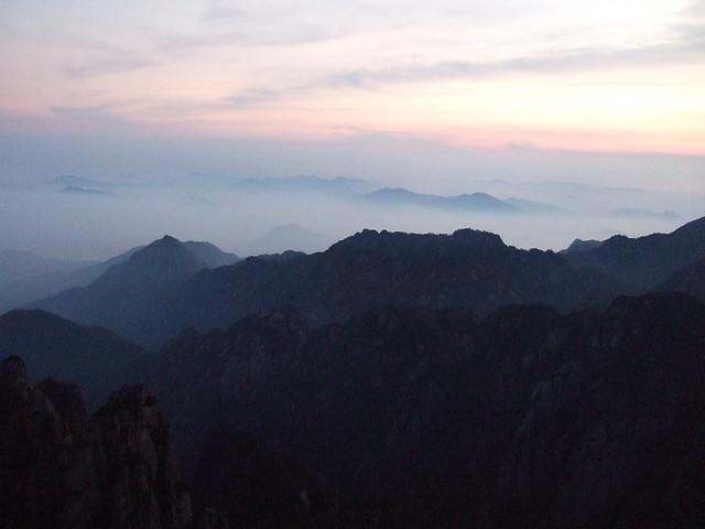黄山 北海 雲海 日の出