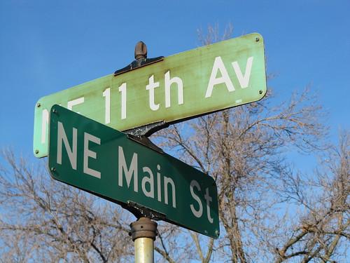 NE 11th Ave at NE Main St