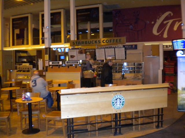 Starbucks en el aeropuerto de Prestwick