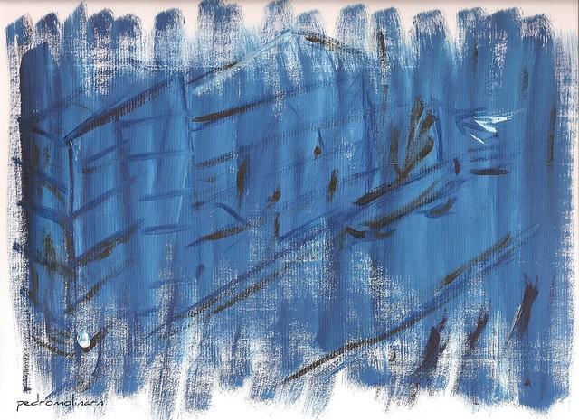 calle azul