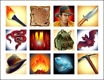free Diamond Cave slot game symbols