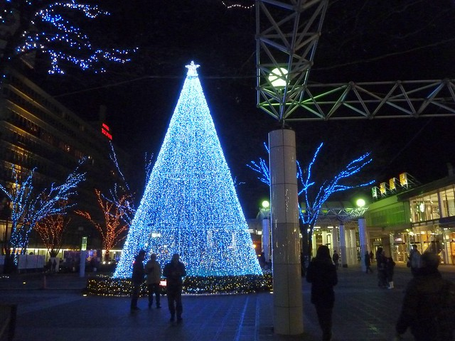 福島駅前のクリスマスツリー, 福島県南相馬市でボランティア Volunteer at Minamisoma city, Fukushima pref. Affected by the Tsunami of Earthquake and Fukushima Daiichi Nuclear Accident