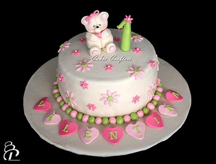 Girl First Birthday Cake
