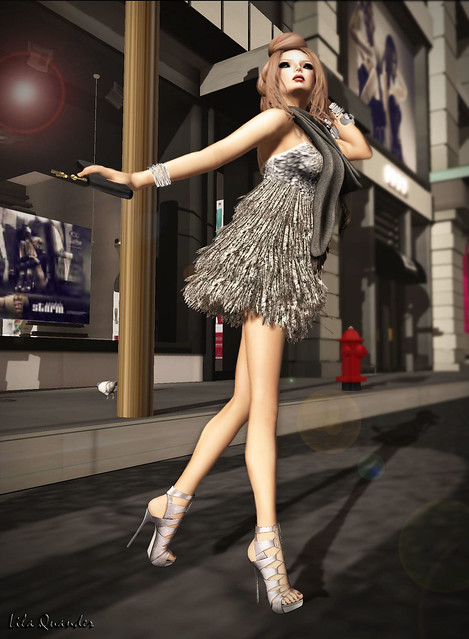 Baiastice_Gleam dress - Silver
