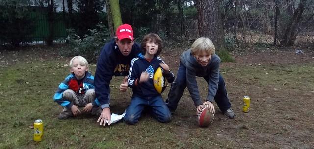 kids playing backyard football we are playing a mock nfl