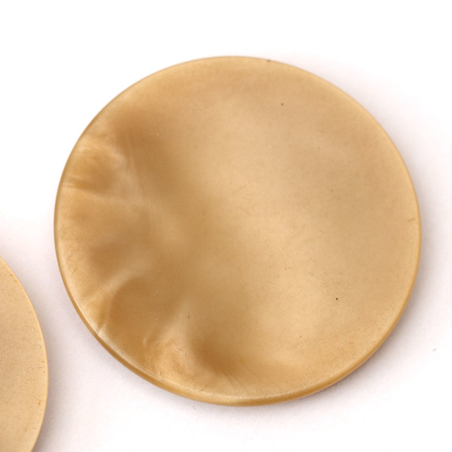 2 vintage giant light brown plastic buttons 40mm