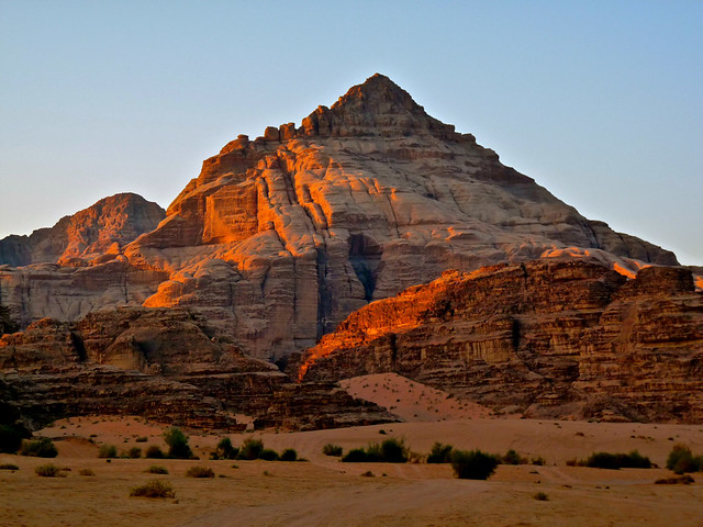 As Sunrise hits Wadi. By Ian Layzell