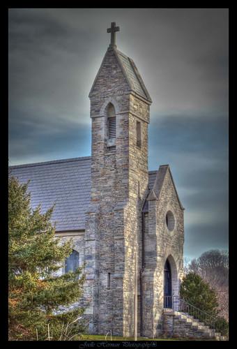 church nikon cross steeple hdr d90 tonemapped