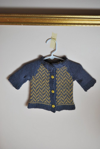Finished Chevron Baby Sweater