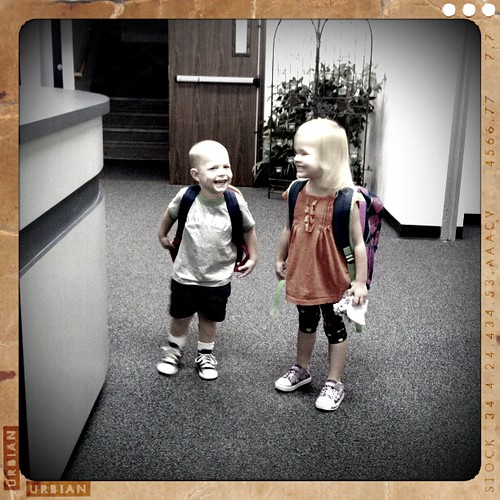 Billy and his friend A at school