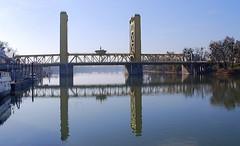 Sacramento River Reflections:  Tower Bridge, Sacramento CA