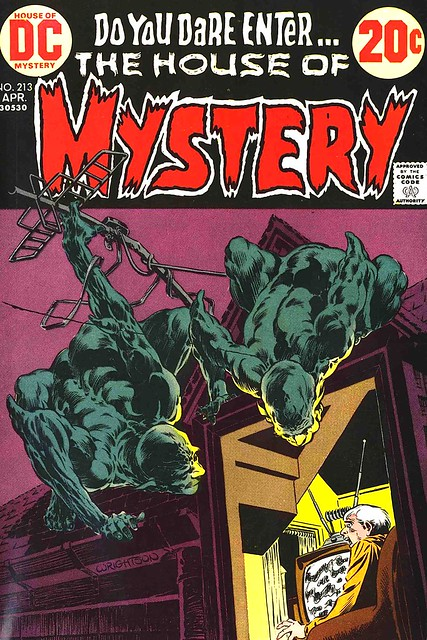 House of Mystery 213 cover by Bernie Wrightson